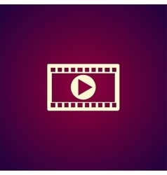 Video icon Flat design style EPS 10 vector image