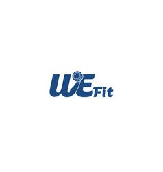 we-fit-logo vector image