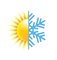 Winter and summer icon isolated on white vector image