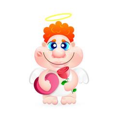 angel greeting card vector image