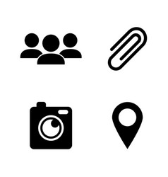chat communication simple related icons vector image
