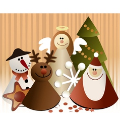 Christmas paper decorations vector image vector image
