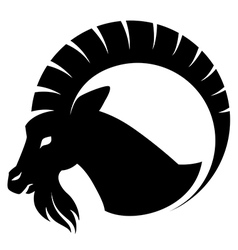 goat symbol isolated vector image