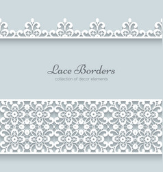 Paper frame with lace borders vector