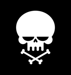 Skull and crossbones isolated skeleton head Sign vector image vector image