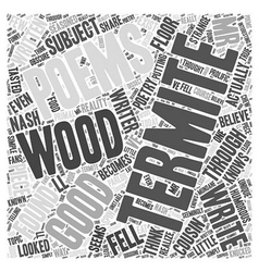 Termite Poems Word Cloud Concept vector image vector image