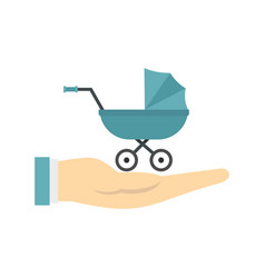 baby pram protection icon flat style vector image