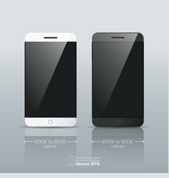 black and white Smart phone isolated vector image vector image