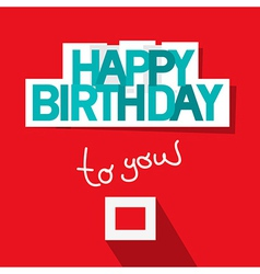Happy Birthday Template on Red Background vector image vector image