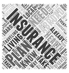 Health Insurance When Living Abroad Word Cloud vector image vector image