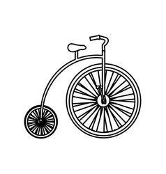 monochrome silhouette with penny farthing vector image