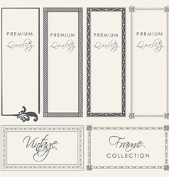 premium quality vintage filigree frame collection vector image
