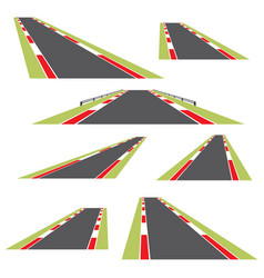 set of roads isolated on white background vector image