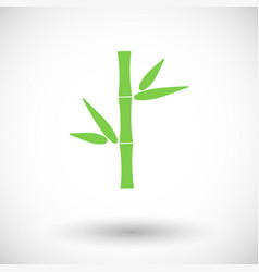 bamboo flat icon vector image vector image