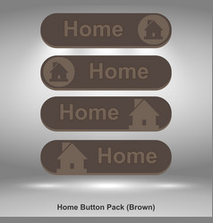home button pack brown image vector image vector image