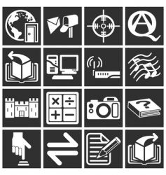 internet web icon series set vector image