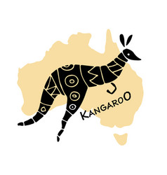 kangaroo sketch for your design vector image vector image