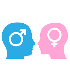 man and woman facing each other vector image
