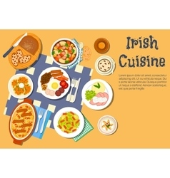 Nourishing meaty irish dishes for dinner menu icon vector image vector image