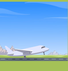 plane takes off vector image