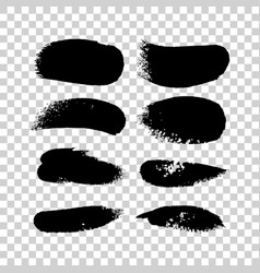set of grunge black watercolor brush strokes vector image
