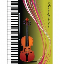 violin and piano vector image