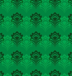 Background - Emerald Flowers vector image vector image