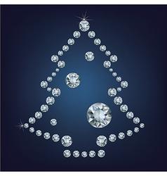 Christmas tree made a lot of diamonds vector image vector image