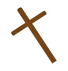 cross wooden symbol vector image