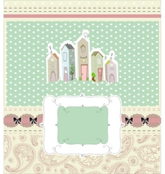 home sweet home card vector image
