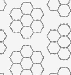 Perforated paper with hexagons forming flowers vector image vector image