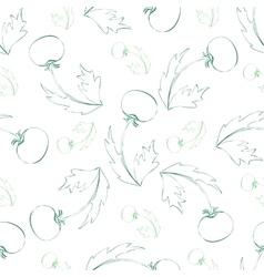 Seamless pattern of sketch dandelion vector image