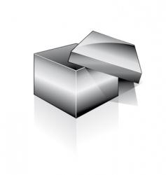 3d open box vector image