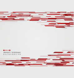 abstract art technology red stripe line background vector image