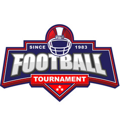 american football tournament logo vector image