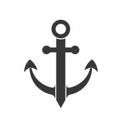 anchor sea lifestyle nautical icon graphic vector image