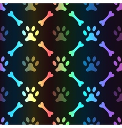 animal spectrum seamless pattern paw vector image
