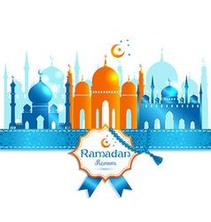Arabic ramadan kareem frame design celebrat vector
