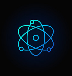 Atom blue icon vector