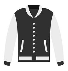 Baseball jacket icon isolated vector