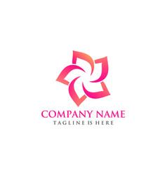 beautiful flower logo vector image