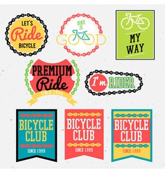 bicycle club color vector image