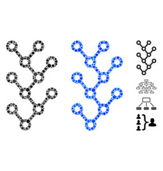 Binary tree composition icon round dots vector