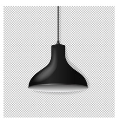 black hanging lamp isolated transparent background vector image