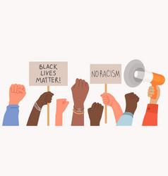black lives matter a crowd protestors vector image