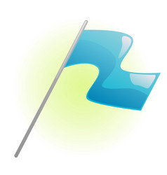 blue flag vector image