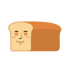 bread sleeping emoji piece of bread asleep vector image