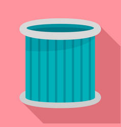 Car air filter icon flat style vector