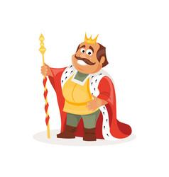 cartoon king vector image