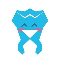 Cartoon tooth icon Dental care design vector